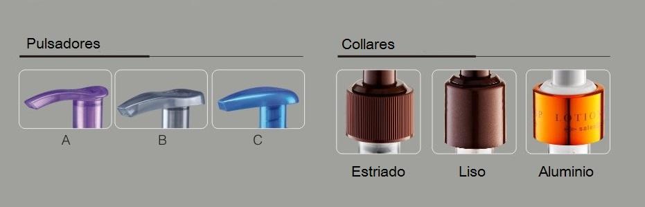 Opciones pulsadores y collares bomba dosificadora FL308