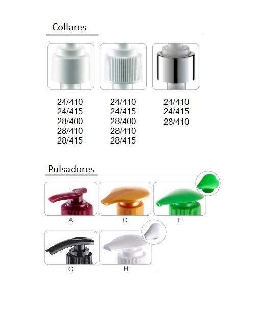 opciones pulsadores y collares FL301
