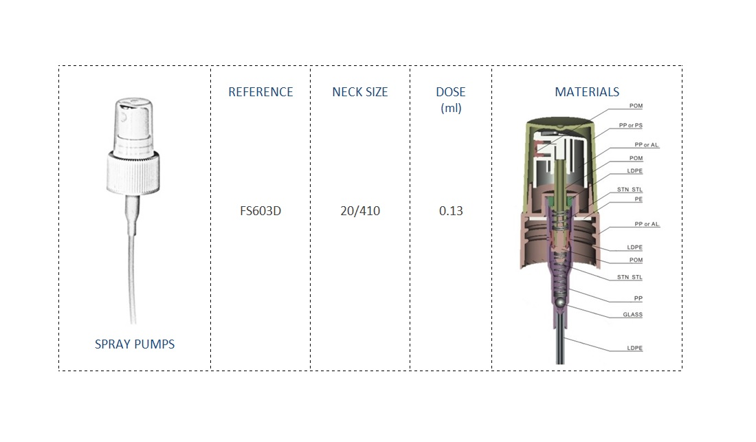 Spray pump FS603D 20-410