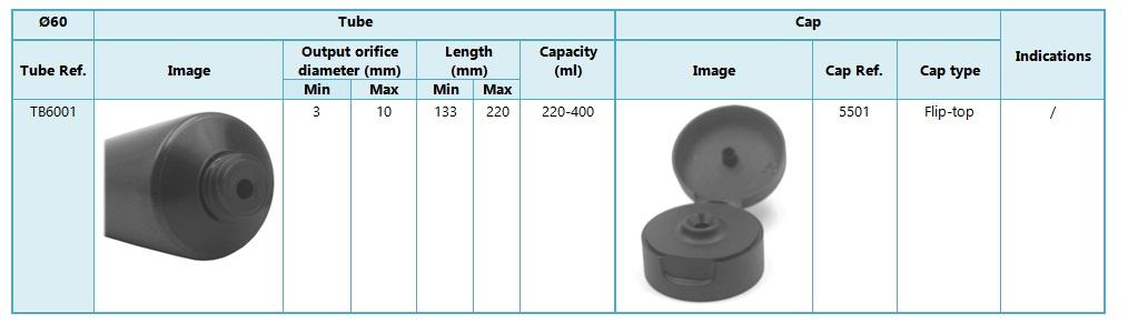 Tubes 60mm diameter