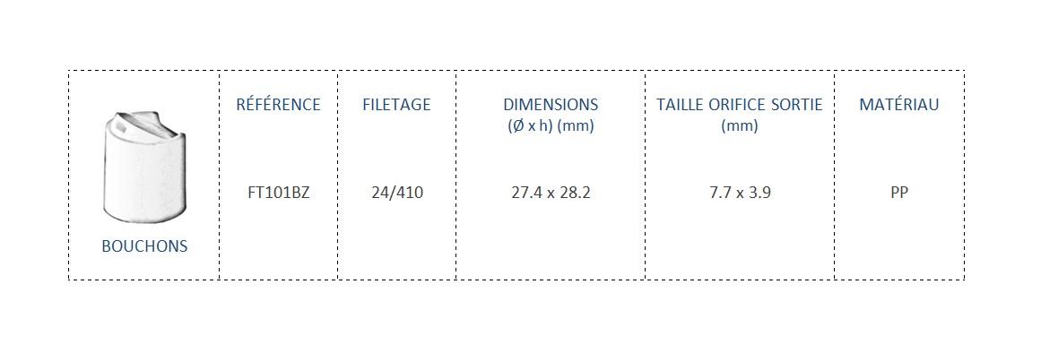 Bouchon FT101BZ 24/410