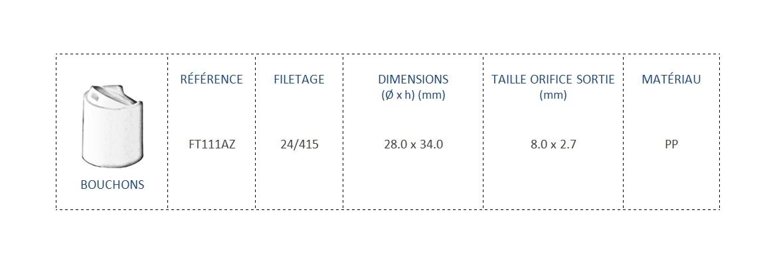 Bouchon FT111AZ 24/415
