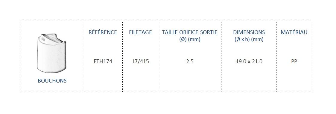 Bouchon FTH174 17/415