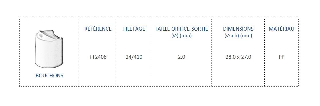 Bouchon FT2406 24/410