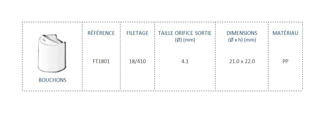 Bouchon FT1801 18/410