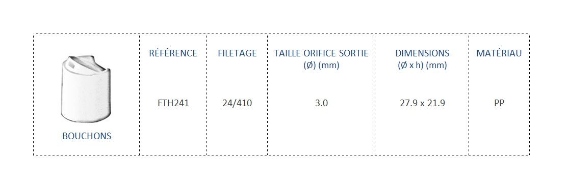 Bouchon FTH241 24/410