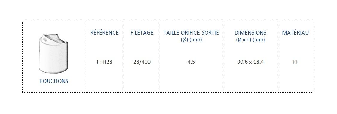 Bouchon FTH28 28/400