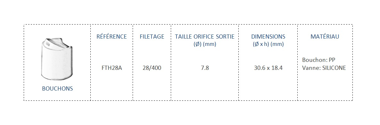 Bouchon FTH28A 28/400