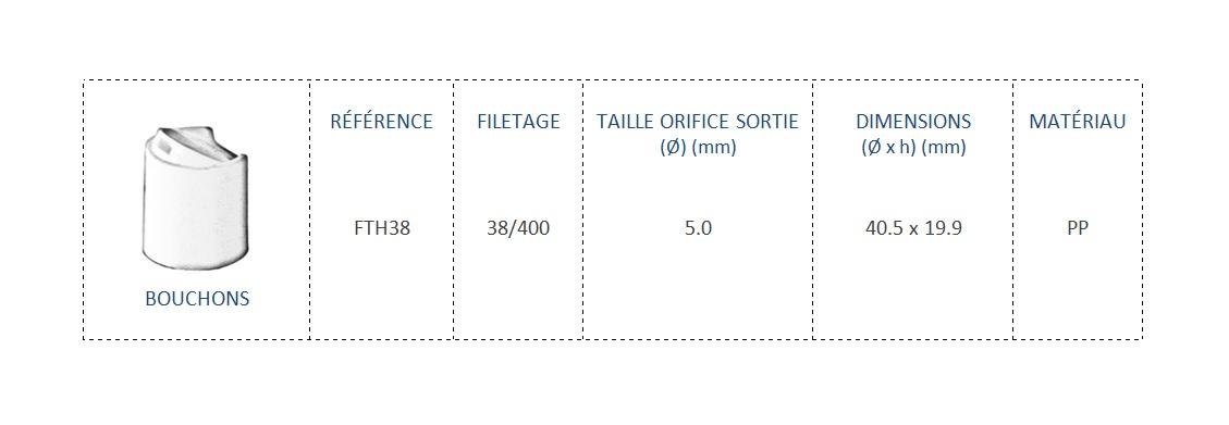 Bouchon FTH38 38/400