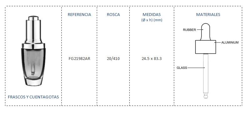 Cuentagotas 20/410 FG21982AR