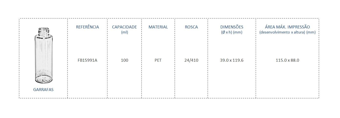 Garrafa PET 100ml FB1599 24/410