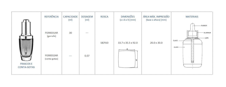 Frasco e Compta-Gotas 30mL FG90031AR