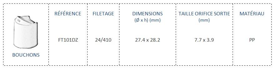 Bouchon FT101DZ 24/410