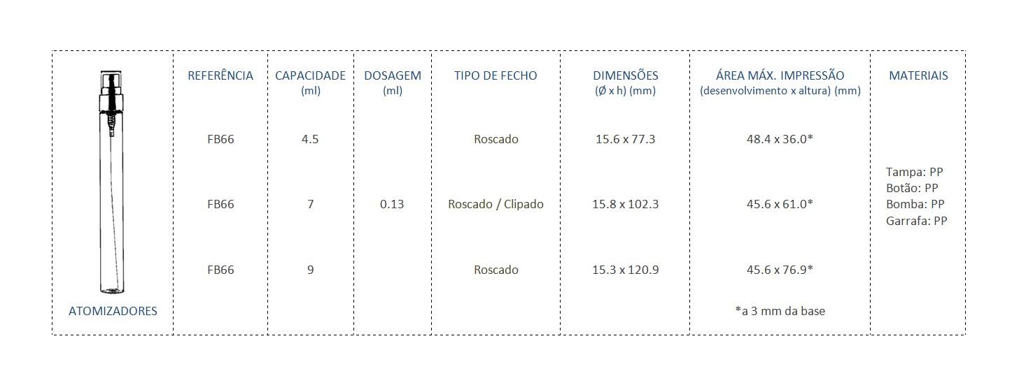 Atomizador FB66 4.5+7+9