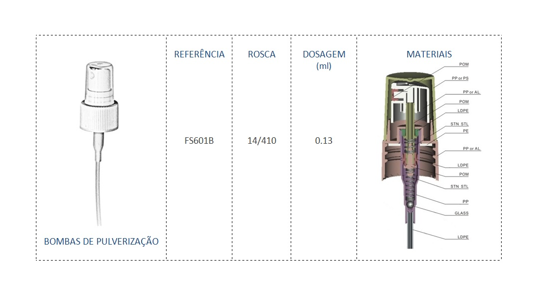 Bomba de Pulverizaçao FS601B 14/410