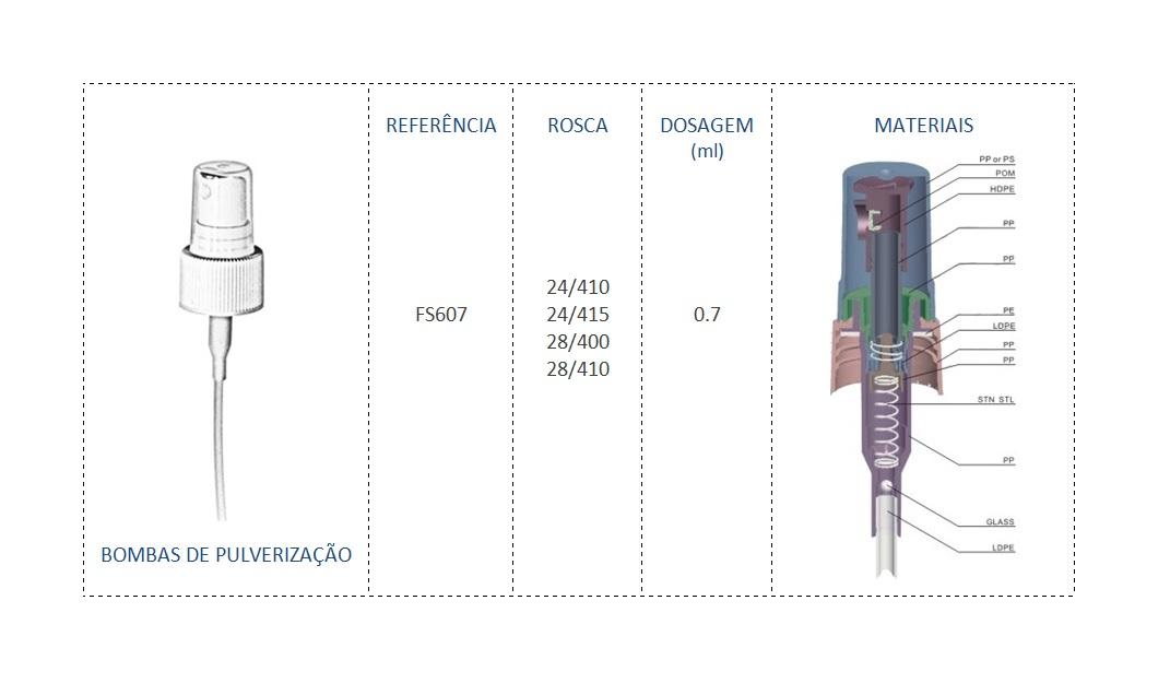 Bomba de Pulverizaçao FS607 24/410, 24/415, 28/400 e 28/410