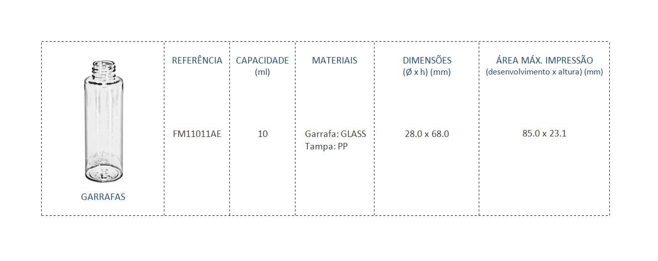 Garrafa FM11011AE 10mL