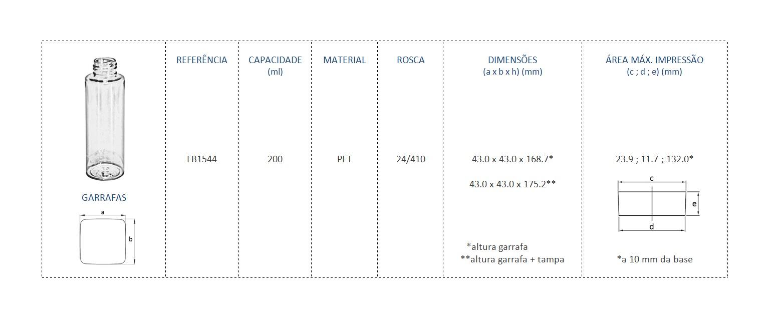 FB1544 200mL 24/410