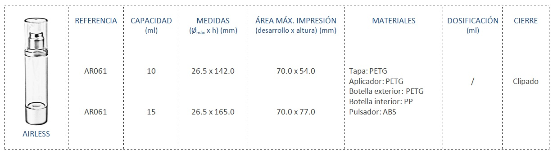 Envase Airless AR061