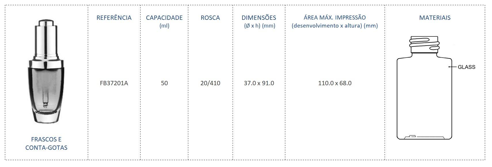 Frasco 20/410 50ml FB37201A